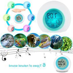 7 Color Change LED Digital Alarm Clock Snooze Home Decor For