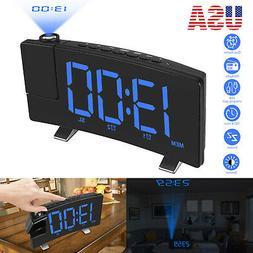 "7"" LCD Digital LED Projector Projection FM Radio Snooze Alar"