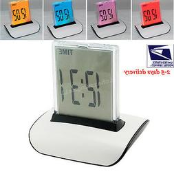 7 LED Color Changing Full Digital LCD Thermometer Calendar A