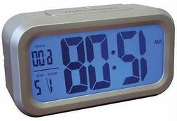 Westclox 70045A Clo Large Readout Silver Case Clock