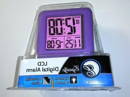 70904 Equity by La Crosse Soft Cube LCD Digital Alarm Clock