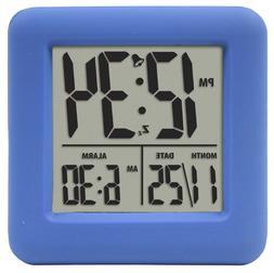 Equity 70918 Blue Soft Cube LCD Alarm Clock