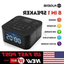 8 In 1Portable bluetooth Speaker Digital Alarm Clock Snooze