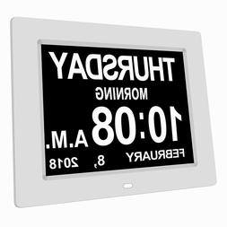 8 Language Digital Alarm Clock Extra Large Non-Abbreviated E