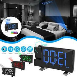 8'' Projection Digital Snooze Alarm Clock LED Backlight Dual