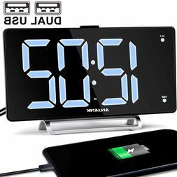 Digital Clock Large LED Jumbo Display Vision Impaired Dual A