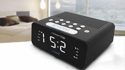 "Emerson 9"" SmartSet Alarm Clock Radio with AMFM Radio Dimm"