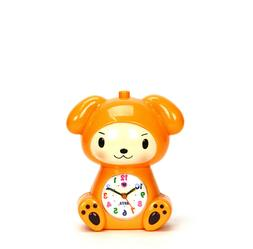 Adorable Baby in Puppy Robe Kids Musical Alarm Clock - Child