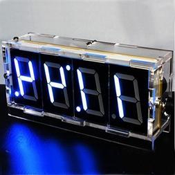 AlumiGogo DIY 4 Digit LED Electronic Clock Kit Large Screen