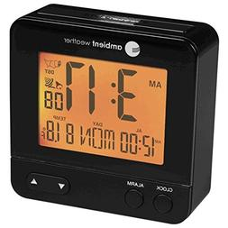 Ambient Weather RC-8300 Atomic Travel Compact Alarm Clock wi