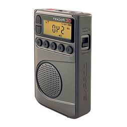 C. Crane CC Pocket AM FM and NOAA Weather Radio with Clock a