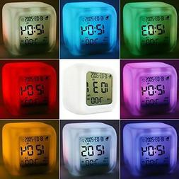 DZT1968® 7 LED Color Temperature Change Square Digital Alar