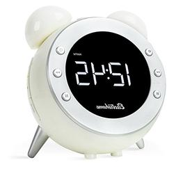 Electrohome Retro Alarm Clock Radio with Motion Activated Ni