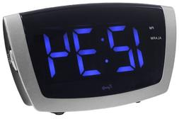 Equity by La Crosse 75904 LED Blue Digit Alarm Clock with