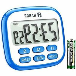 Habor Digital Kitchen Timer, Cooking Timer, Large Display, S