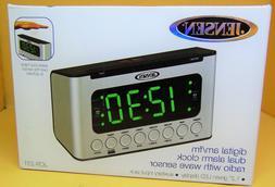 Jensen - Am/fm Dual-alarm Clock Radio With Wave Sensor