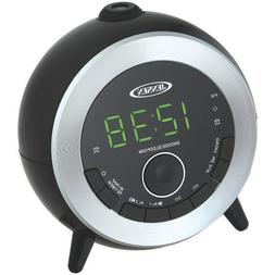 Jensen Compact AM/FM Dual Time Projection Alarm Clock Radio