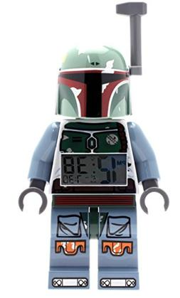 LEGO Star Wars Boba Fett Kids Minifigure Light Up Alarm Cloc