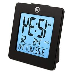 Marathon CL030050BK Digital Alarm Clock with Day, Date, Temp