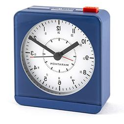 Marathon CL030053BL Classic Silent Sweep Alarm Clock with Au