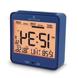 Marathon CL030054BL Atomic Desk Clock, With Backlight, Heat