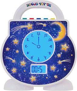 My Tot Clock My Toddler Clock, White