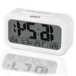 Peakeep Digital Alarm Clock with 2 Alarms for Optional Weekd