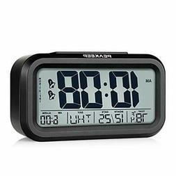 Peakeep Digital Dual Alarm Clock with Snooze and Nightlight,