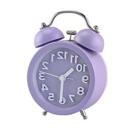 "PiLife 3"" Mini Non-ticking Vintage Classic  Analog Alarm Clo"