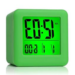 Plumeet Easy Setting Digital Travel Alarm Clock with Snooze,