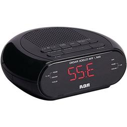 RCA RC205 Dual Wake Alarm Clock Radio AM/FM W/Red LED Displa