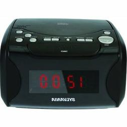 SYLVANIA SCR4986 USB-Charging CD Dual Alarm Clock Radio