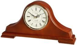 Seiko Mantel Chime Clock Dark Brown Solid Oak tambour Case