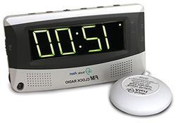 Sonic Boom Vibrating Radio Alarm Clock with AM/FM Radio & Po