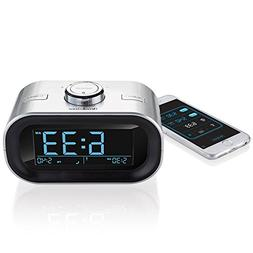 TimeSmart App-Controlled Bluetooth Alarm Clock Radio