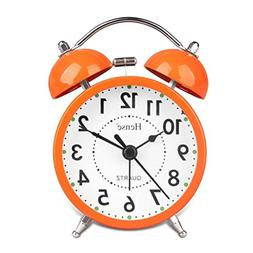 Useful Retro Twin Bell Alarm Clocks Mute Silent Quartz Movem