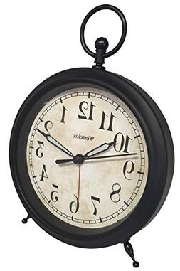 Westclox 0 Vintage Look Top Ring Decor Alarm Clock, Multicol