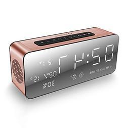 Alarm Clock Radio Bluetooth Speakers for iPhone, iPad/iPod/A
