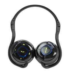 iKross A2DP Bluetooth Stereo Headphone Headset with Black Ca