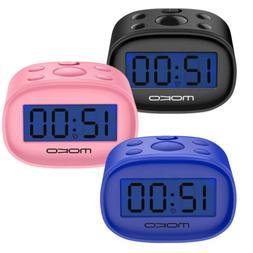 MoKo Accuracy Mini LCD Display Kids Clock Night Light Travel