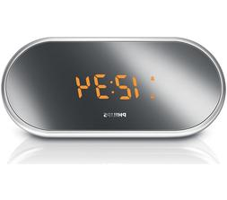 Philips AJ1000/37 Clock Radio with Mirror-Finished Display
