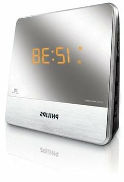 Philips AJ3231 Dual Alarm Clock Radio With Mirror Finish
