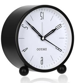 Alarm Clock 4 Inch Round Alarm Clock Non Ticking with Snooze