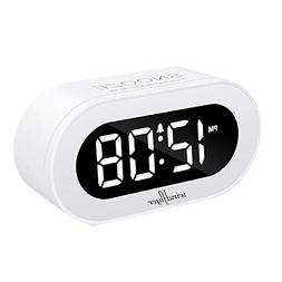Windflyer Small LED Digital Alarm Clock with Snooze, Simple