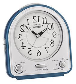 Seiko Alarm Clock, Plastic, Blue, 14.3x 12.9x 7cm