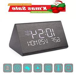 Digital Alarm Clock, Adjustable Brightness Voice Control Des