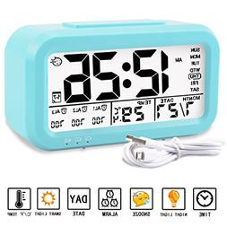 Aitey Alarm Clock, Digital Alarm Clock for Kids, Time/Date/T