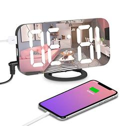"Digital Alarm Clock, Alarm Clock Large 6.5"" LED Display with"