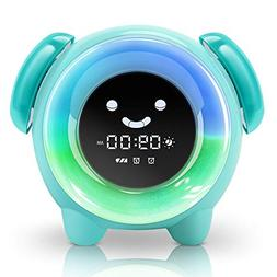 KNGUVTH Alarm Clock for Kids Bedrooms, Children Sleep Traini