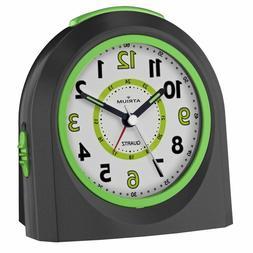 ATRIUM Alarm Clock Analog Quartz Black A921-7 Without Tick w